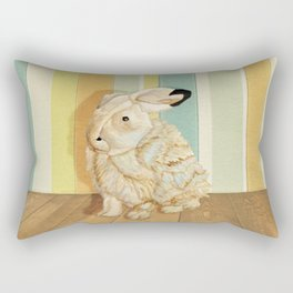 Arctic Hare In The Playroom Rectangular Pillow