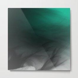 Green Gray Smoke Metal Print