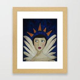 Distracted Angel  Framed Art Print