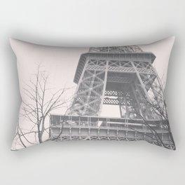 Eiffel tower, Paris, black & white photo, b&w fine art, tour, city, landscape photography, France Rectangular Pillow