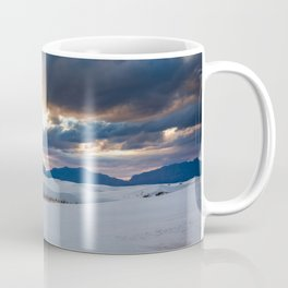 One More Moment - Sunbeams Burst From Clouds Over White Sands New Mexico Coffee Mug