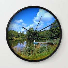At the fairytale pond | waterscape photography Wall Clock