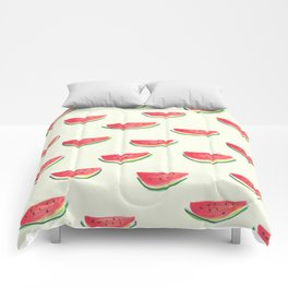 Watercolor Watermelon Comforters