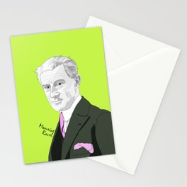 Maurice Ravel (Lime Background) Stationery Cards