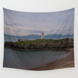 View Towards Twr Bach Lighthouse Wall Tapestry