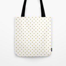 Golden Dots Tote Bag