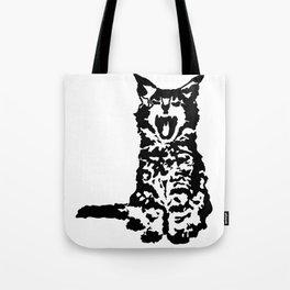 Screaming Kitten (Black & White) Tote Bag