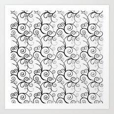 TRELLIS AND VINES PATTERN Art Print