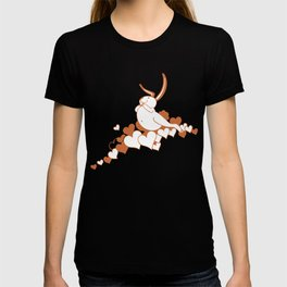 Valentine Rabbit with Hearts T-shirt