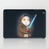 guinea pig iPad Cases featuring Jedi Guinea Pig by When Guinea Pigs Fly