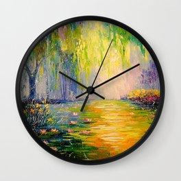 Fabulous pond Wall Clock