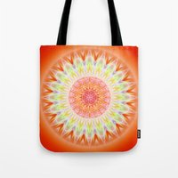 health Tote Bags featuring Mandala Health by Christine baessler