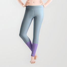 Dip Dyed Purple Colour Block Live Free Leggings