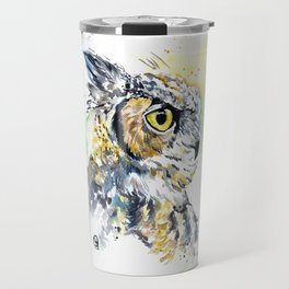 Great Horned Owl Travel Mug