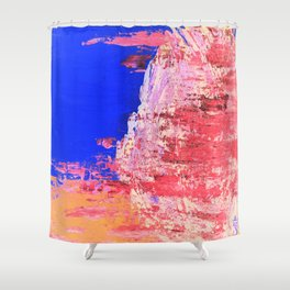 Into the Mist Pantone Color of the Year 2016 Abstract Shower Curtain