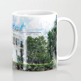 White House, Washington DC, Watercolor Coffee Mug