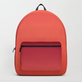 Living Coral Fiesta Jester Red Gradient Ombre Pattern Backpack