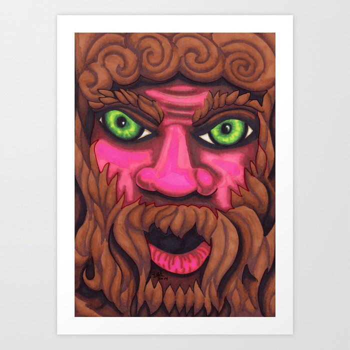 Forrest Grump - Mazuir Ross Art Print