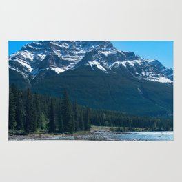 Rocky Riverbed Photography Print Rug