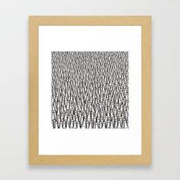 Geese army Framed Art Print