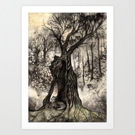 L'arbre au loup Art Print