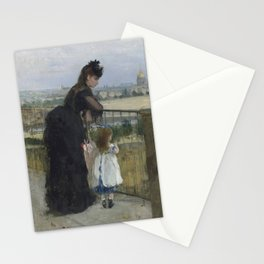 Woman and Child on a Balcony (Morisot 1872) Stationery Cards