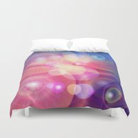 the lights Duvet Covers featuring lights by haroulita