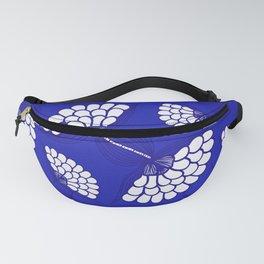 African Floral Motif on Royal Blue Fanny Pack