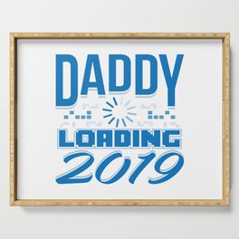 Baby Is Loading Boy Girl For Dad Announcement Gift Serving Tray