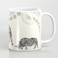 rhino Mugs featuring Rhino by famenxt