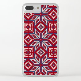 Pattern in Grandma Style #36 Clear iPhone Case