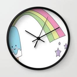Rainbow-Ice-Cream Wall Clock