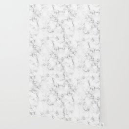 The Perfect Classic White with Grey Veins Marble Wallpaper