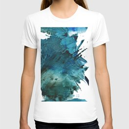 Scenic Route [2]: a pretty, minimal abstract piece in blue and green by Alyssa Hamilton Art T-shirt