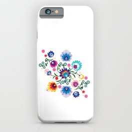 Beautiful Folk Composition on white iPhone Case