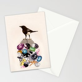 Magpie collector collage Stationery Cards
