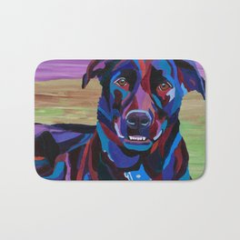 Colorful Lab/Shepherd Cross Bath Mat