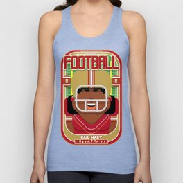 American Football Red and Gold - Hail-Mary Blitzsacker - Aretha version Unisex Tank Top