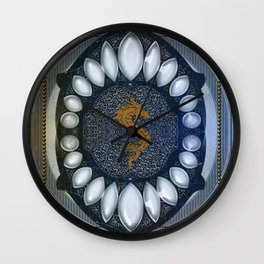Golden chinese dragon Wall Clock