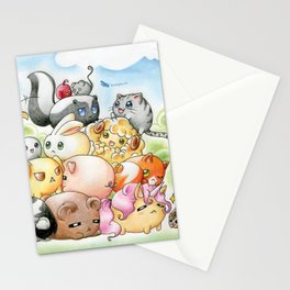Chibi-Creatures Stationery Cards