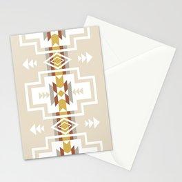 Aztec Stripes Beige Stationery Cards