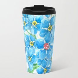 Forget me not seamless floral pattern Travel Mug
