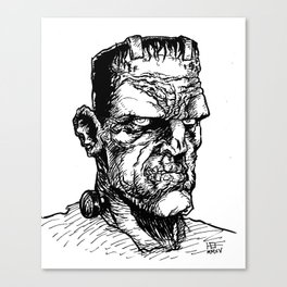 FRANKIE JR. (Black & White) Canvas Print
