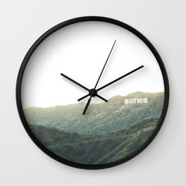 Travel photography A way to Hollywood II Wall Clock