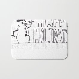 Snowman (Happy Holidays) Bath Mat