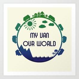 My Van Our World -  Ocean Art Print