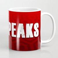 twin peaks Mugs featuring Twin Peaks by InvaderDig