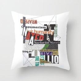 Sartorial Streets Throw Pillow