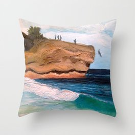Shipwreck Rock, Kauai Throw Pillow