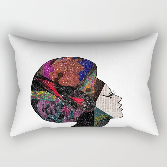 Space Hair Rectangular Pillow